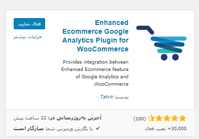افزونه Enhanced Ecommerce Google Analytics Plugin for WooCommerce